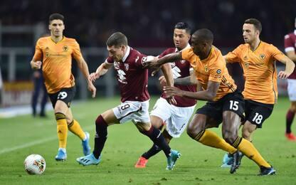 Europa League, Torino-Wolverhampton 2-3. Gol e highlights