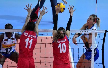 Pallavolo: azzurre sconfitte, Serbia in finale Europei