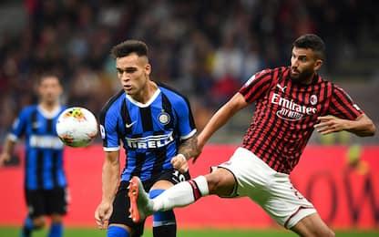 Milan-Inter, la sfida a San Siro: 0-2. Il fotoracconto