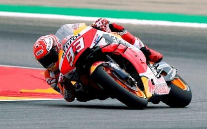 MotoGP, qualifiche GP Aragón: Marquez in pole davanti a Quartararo