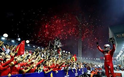 F1, Gp Singapore: vince Vettel. Leclerc 2°