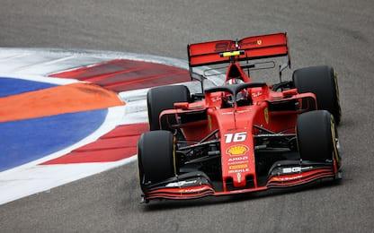 F1, Gp Russia: per Leclerc quarta pole di fila. FOTO