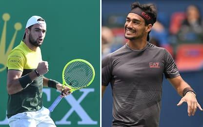 Tennis, Fognini e Berrettini ai quarti a Shanghai