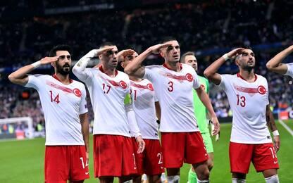 Euro 2020, Turchia-Francia: saluto militare dopo gol del pari. VIDEO