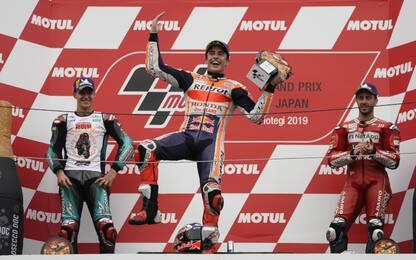 Gp Giappone, vince Marquez: video highlights della gara