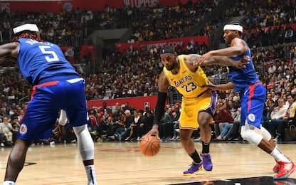 Nba, i Lakers sconfitti dai Clippers al derby di Los Angeles