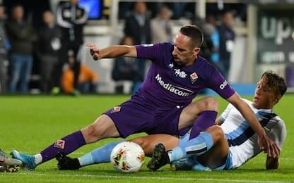 Fiorentina, Ribery spinge il guardalinee: 3 giornate di squalifica