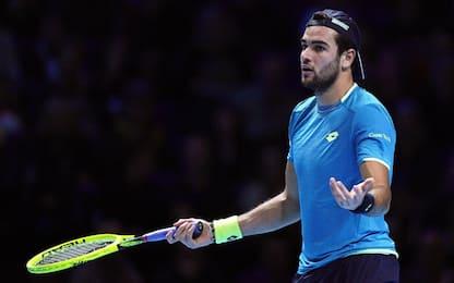 Tennis Atp Finals, Berrettini battuto da Federer per 7-6, 6-3