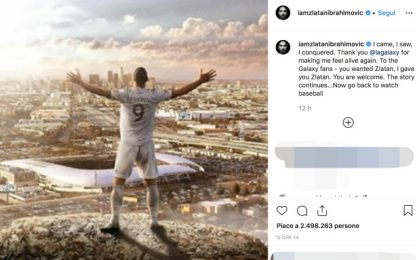 "Ibrahimovic saluta i Galaxy: ""Ora potete tornare a guardare baseball"""
