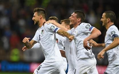 Europei 2020, l'Italia batte 3-0 la Bosnia in trasferta