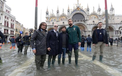 Venezia, delegazione della Nazionale a San Marco.  FOTO