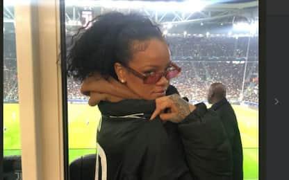 Juventus-Atletico Madrid: Rihanna allo Stadium per tifare bianconeri