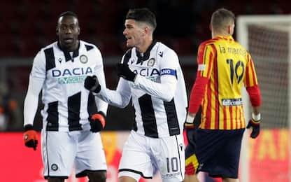 Lecce-Udinese 0-1: video, gol e highlights della partita di Serie A
