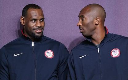Kobe Bryant, il saluto commosso di LeBron James sui social