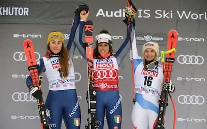 Sci, Brignone prima e Goggia seconda in superG Sochi