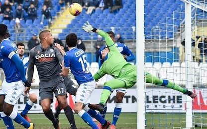 Brescia-Udinese 1-1: video, gol e highlights della partita di Serie A