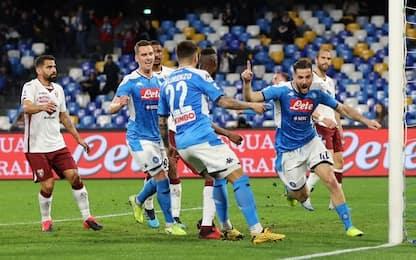 Napoli-Torino 2-1: azzurri fuori dalla crisi, granata ancora ko