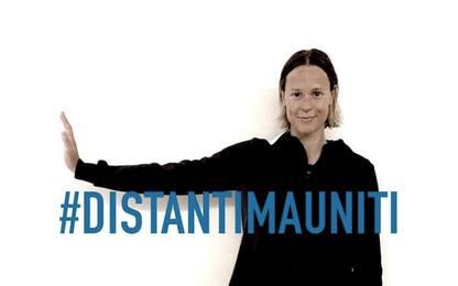 Covid19, campagna #distantimauniti del ministero Sport. FOTO