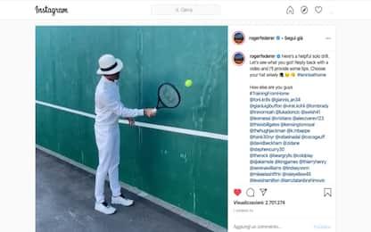 """Coronavirus, gli sportivi  si sfidano nella """"Federer Challenge"""""""