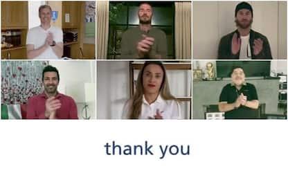 Coronavirus, dalle star del calcio un applauso ai medici. VIDEO