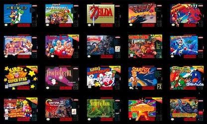 Super Nes Classic Mini, giochi anni '90