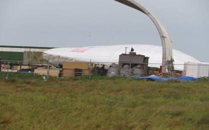 SpaceX, il prototipo di Starship Hopper danneggiato dal vento