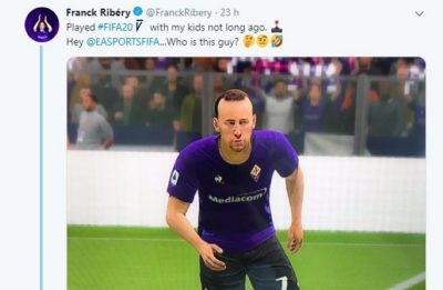 Ribery contro Fifa 20, il suo alter ego digitale non gli assomiglia