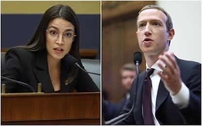 Facebook, Alexandria Ocasio Cortez incalza Mark Zuckerberg. VIDEO