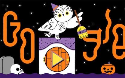 Halloween, Google festeggia con un doodle in collaborazione con il WWF