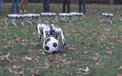 I robot che fanno le capriole e giocano a calcio. VIDEO
