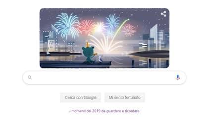 Google celebra la notte di San Silvestro con un doodle a tema