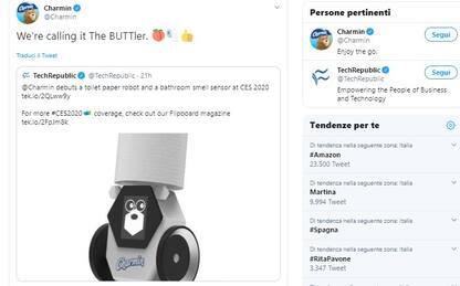 CES 2020: Rollbot, il robot che porta la carta igienica in bagno