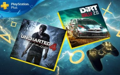 PlayStation Plus, Uncharted 4 e Dirt Rally 2.0 sono disponibili