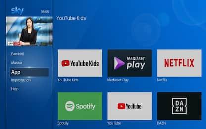 Su Sky Q sbarca l'app di YouTube Kids dedicata ai più piccoli