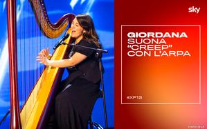 """Giordana Petralia canta """"Creep"""" dei Radiohead con l'arpa alle Audizioni di X..."""